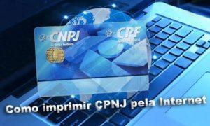 Como imprimir CNPJ pela internet